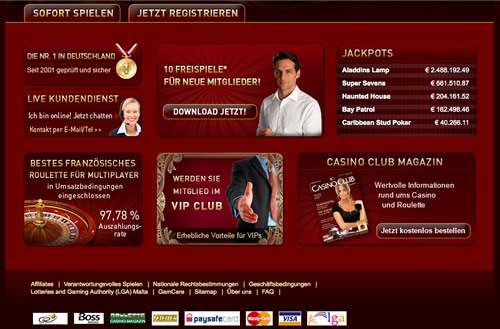 test casino club