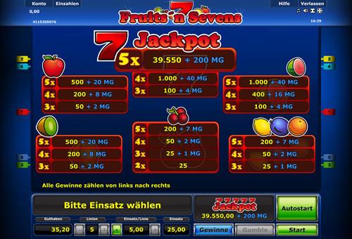 fruits sevens kostenlos spielen