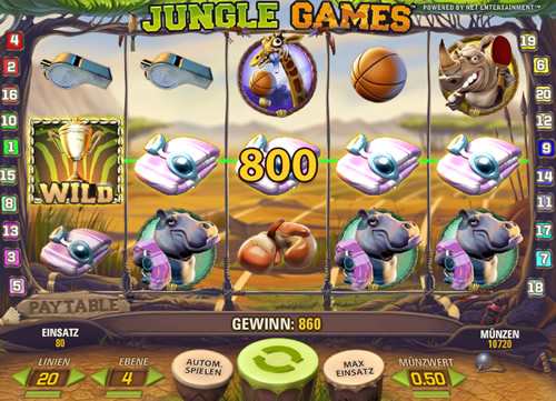 Jungle Games Neuer Spielautomat